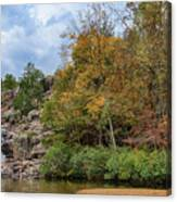 Rocky Falls In The Fall Canvas Print