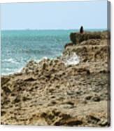 Rocky Limestone Cliff Blowing Rocks Preserve Jupiter Island Florida Canvas Print
