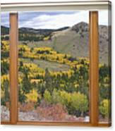 Rocky Mountain Autumn Picture Window View Canvas Print