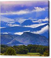 Rocky Mountain Cloud Layers Canvas Print