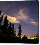 Rocky Mountain Falling Star Canvas Print