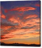 Rocky Mountain Front Range Sunset Canvas Print