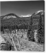 Rocky Mountain National Park Black And White Canvas Print