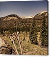 Rocky Mountain National Park Vintage Canvas Print