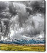 Rocky Mountain Panorama Hdr Canvas Print