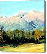 Rocky Mountain Panoramic Canvas Print