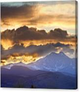 Rocky Mountain Springtime Sunset 3 Canvas Print