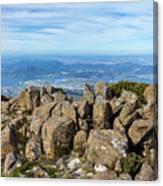 Rocky Mountain Summit Overlooking Beautiful Vally Canvas Print