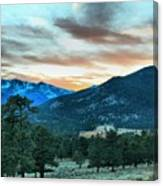 Rocky Mountain Sunset Canvas Print