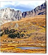 Rocky Mountain Tundra And Lake Canvas Print