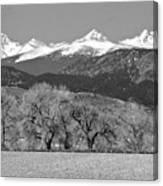 Rocky Mountain View Bw Canvas Print