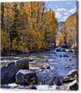Rocky Mountain Water 8 X 10 Canvas Print