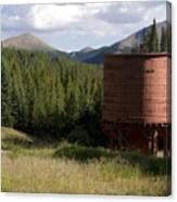 Rocky Mountain Water Tower Canvas Print