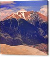 Rocky Mountains And Sand Dunes Canvas Print