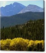 Rocky Mts Mtn M 209 Canvas Print
