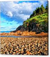 Rocky Oregon Beach Canvas Print