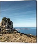 Rocky Outcrop Above Calvi Bay In Corsica Canvas Print