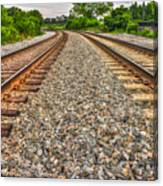 Rocky Railroad Rails Canvas Print