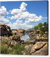 Rocky Shore And Pristine Water Canvas Print