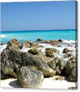 Rocky Shore--cancun Canvas Print