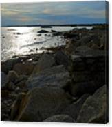 Rocky Shore Sunset Canvas Print