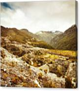 Rocky Valley Mountains Canvas Print