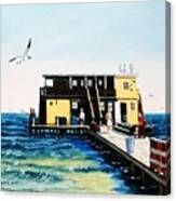 Rod And Reel Fishing Pier Canvas Print