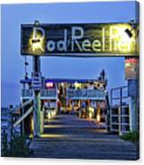 Rod And Reel Pier Canvas Print