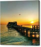 Rod And Reel Pier Sunrise 2 Canvas Print