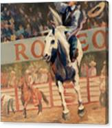 Rodeo   Bareback Bronc Painting Canvas Print