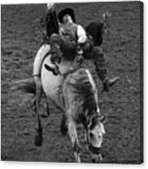 Rodeo Bareback Riding 13 Canvas Print