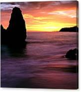 Rodeo Beach At Sunset, Golden Gate Canvas Print