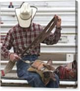 Rodeo Cowboy Canvas Print