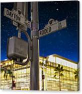 Rodeo Dr. And Dayton Way Canvas Print