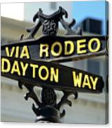 Rodeo Drive In Beverly Hills Canvas Print