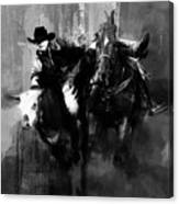 Rodeo In Black Canvas Print