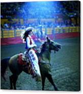 Rodeo Queen In The Spotlight Canvas Print