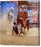 Rodeo Rider Down Canvas Print