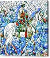 Rodeo Wrangler Mosaic Canvas Print