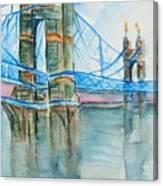Roebling On The Ohio River Canvas Print