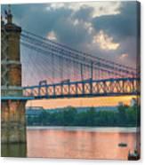 Roebling Suspension Bridge - Cincinnati, Ohio Canvas Print