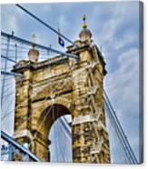 Roebling Suspension Bridge Canvas Print