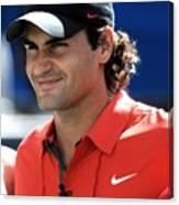 Roger Federer In Attendance For Arthur Canvas Print