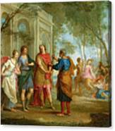 Roland Learns Of The Love Of Angelica And Medoro  Canvas Print