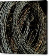 Rolled Barbed Wire-signed-#1936 Canvas Print
