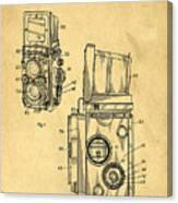 Rolleiflex Medium Format Twin Lens Reflex Tlr Patent Canvas Print