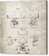 Roller Skate Patent - Patent Drawing For The 1882 F. A. Combes Roller Skate Canvas Print