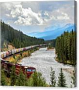 Rollin Down The Track Canvas Print