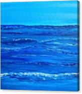 Rolling Blue, Triptych 2 Of 3 Canvas Print