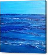Rolling Blue, Triptych 3 Of 3 Canvas Print
